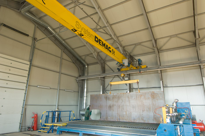 Single-girder overhead travelling crane 5 t - System DEMAG