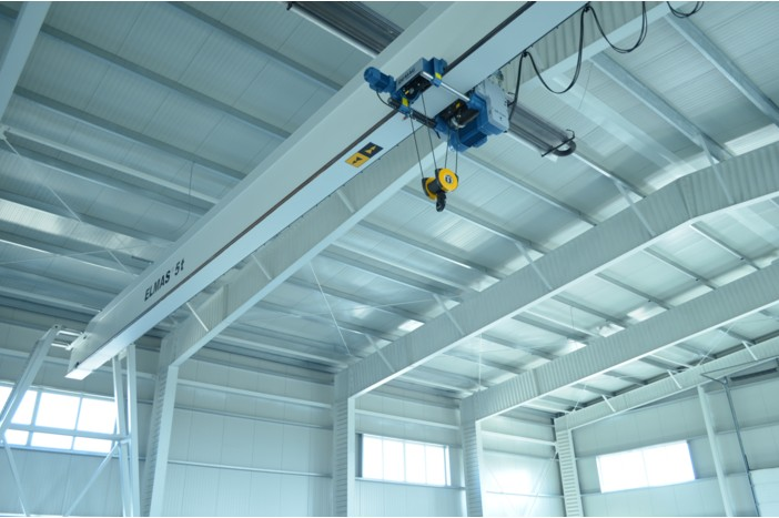 Double-girder overhead travelling crane 3200 kg – System DEMAG