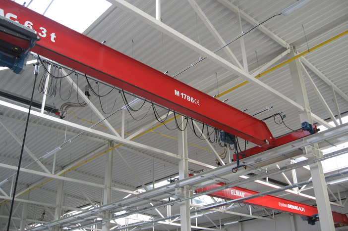 Single-girder overhead travelling crane 6,3 t - System DEMAG